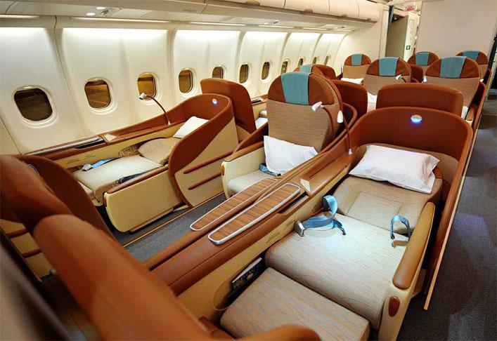 Oman Air business class cabin
